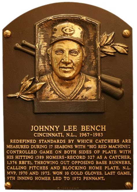 johnny bench career stats johnny bench baseball hall of fame 1989 cooperstown