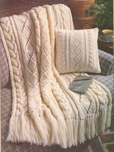 free knitting patterns for aran wool beautiful aran diamonds 14 quot cushion throw 44 quot x 59
