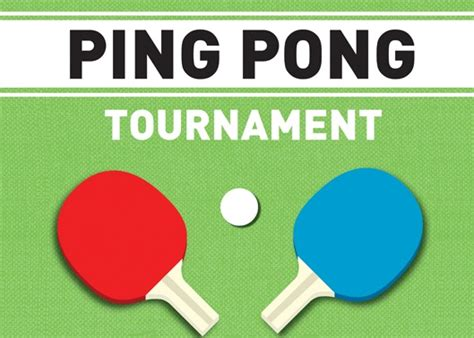 Ping Pong Tournament Ping Pong Tournament Flyer Template