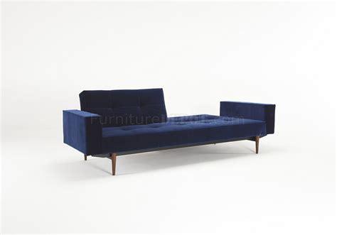 dark blue velvet sofa splitback sofa bed in dark blue velvet by innovation w options