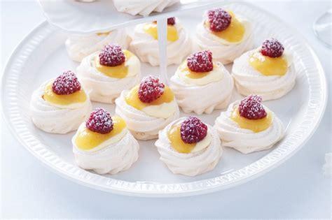 Mini Pavlova mini lemon custard pavlovas recipe taste au