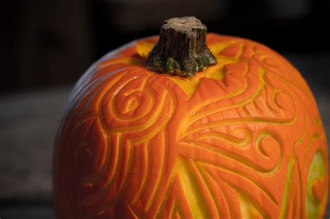 beautifully different pumpkin carving the blue brick