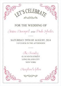 Free Templates For Wedding Invitations by Wedding Invitations Template Wedding Invitations
