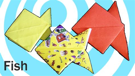 Easy Origami Napkins - easy origami fish from napkins all