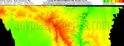 utah elevation map free carbon county utah topo maps elevations