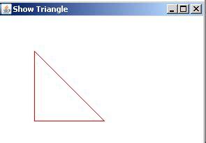 java swing draw line draw a triangle using a line2d