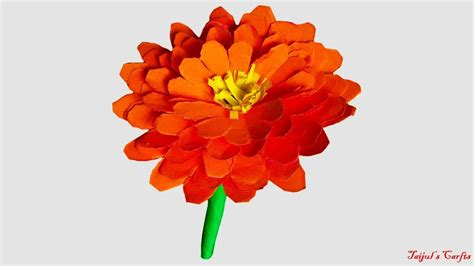 how to make paper marigold flower origami flower my crafts and diy projects