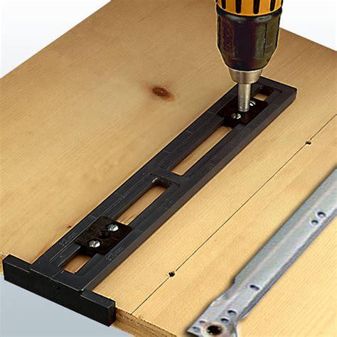 Drawer Slide Guide by Drawer Slide Jigs Easy Guide Drawer Slide Drilling Jig