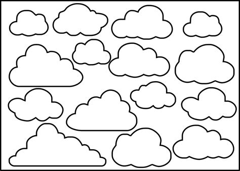 cloud template with lines clouds by brackett stencil 8x10 feltro