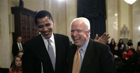 Barack Obama John Mccain Biography | usa politics senator barack obama greets senator john