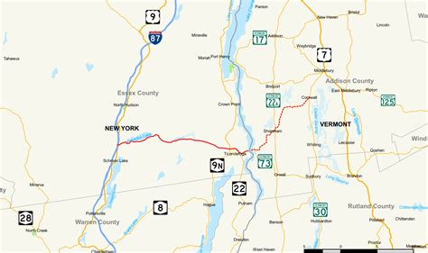 map of vermont and new york state route 74 new york vermont