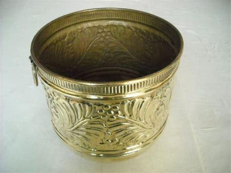 Brass Planter Pots by Handcrafted 12 Quot Brass Pot Planter W Handles Ebay