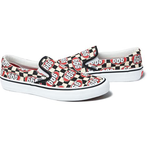 supreme x vans supreme x vans 666 slip on supreme los angeles