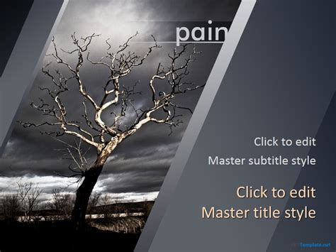 Free Pain Ppt Template Funeral Slideshow Template