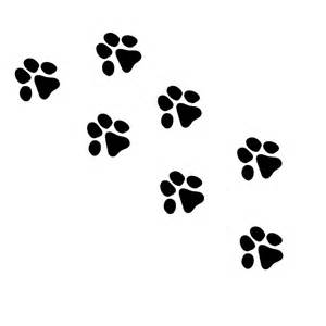 Dog paw prints wall decal