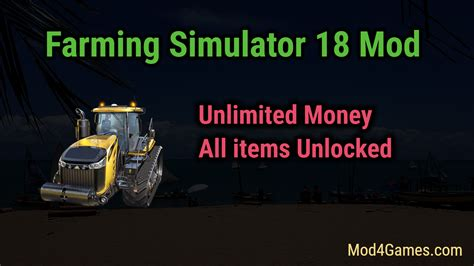 mod game unlimited money farming simulator 18 mod unlimited money all items