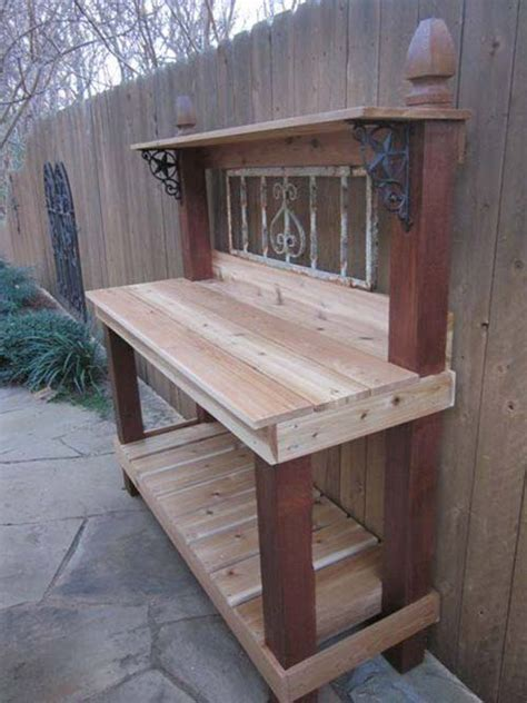 how to build a simple potting bench how to make a super easy potting bench iseeidoimake