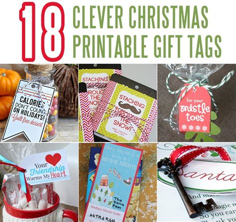 18 clever christmas gift tags the crafting chicks