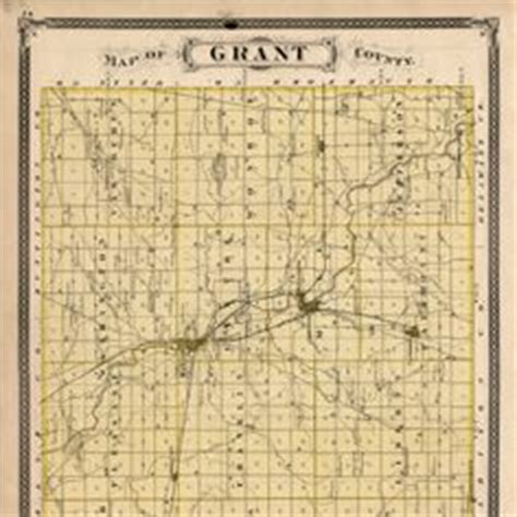 map of grant county indiana at matter park in marion in grant county in