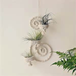 Plant Wall Decor by Iron Wall Decor Wrapped Iron Wall Hanger Macrame By