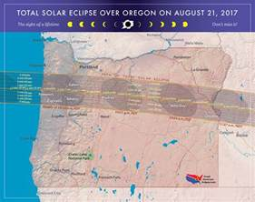 map of oregon totality 2017 total solar eclipse in oregon