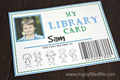 how to make a library card 32 free pretend play printables my filled