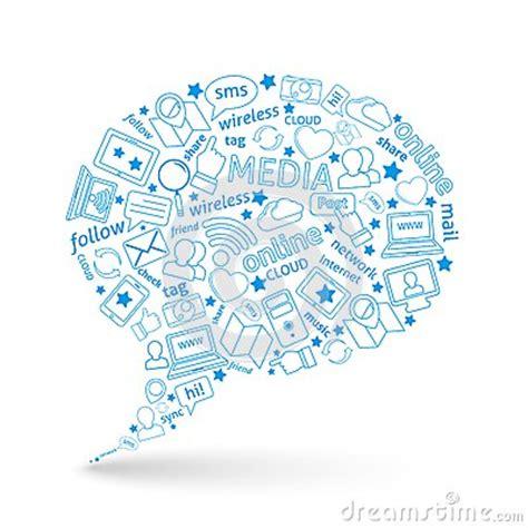 design poster social media social media bubble icon stock vector image 42239276