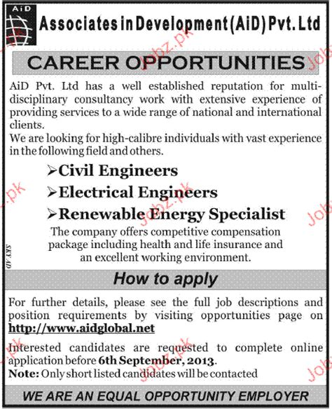 civil engineers electrical engineers job opportunity 2018 jobs pakistan jobz pk - Online Civil Engineering Jobs Work From Home