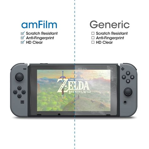 Nintendo Switch Tempered Glass by Is The Amfilm Nintendo Switch Tempered Glass Screen