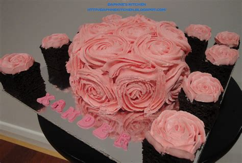Rose Themed Birthday Cake | daphne s kitchen pink roses theme birthday cake for him