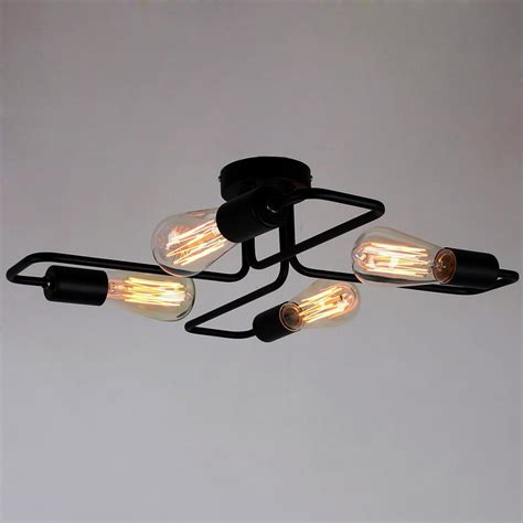 black flush mount ceiling light black vintage barn semi flush mount ceiling lighting