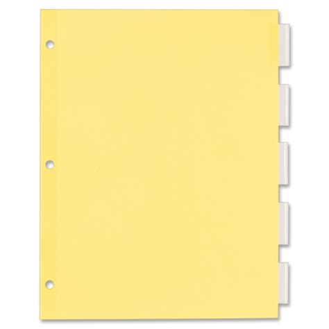 8 tab dividers template avery 11466 office essentials economy insertable tab