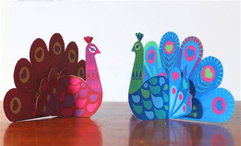 How To Make A Peacock Out Of Paper - pretty paper peacocks ornaments craft invitations