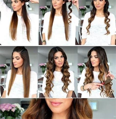 cute hairstyles you can do with a straightener how to make hair waves without heat damaging frisuren