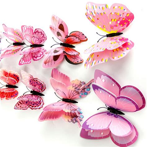 3d pvc butterfly wall stickers home decor free shipping