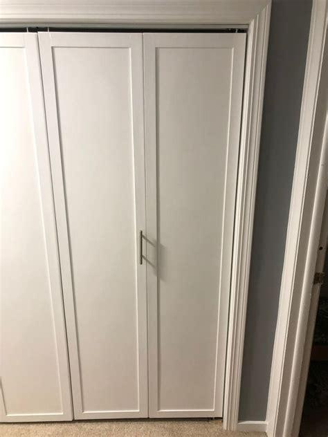 diy bifold closet door makeover idea bifold doors