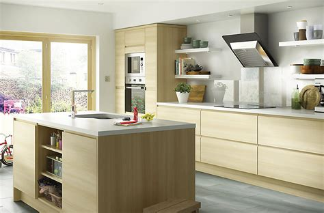 B And Q Kitchen Cabinets It Marletti Horizontal Oak Effect With Integrated Handle Diy At B Q
