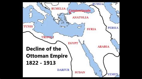 when was the fall of the ottoman empire decline of the ottoman empire 1822 1913 youtube