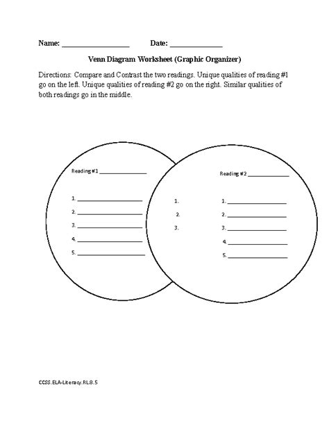 8th grade common reading literature worksheets