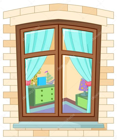 imagenes animadas windows ventana de dibujos animados vector de stock
