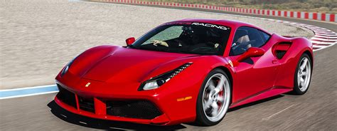 first ferrari race car drive a ferrari 488 gtb on a racetrack at exotics racing