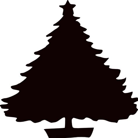 black christmas tree silhouette clip art at clker com