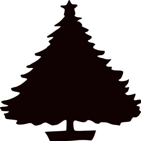 black christmas tree silhouette clip art at clker com