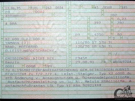 fahrzeugbrief bank 600ccm info eintragung der leistungs 228 nderung in die papiere