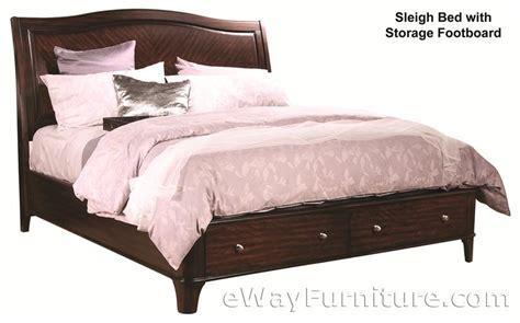 metropolitan mahogany storage platform sleigh bed bedroom set