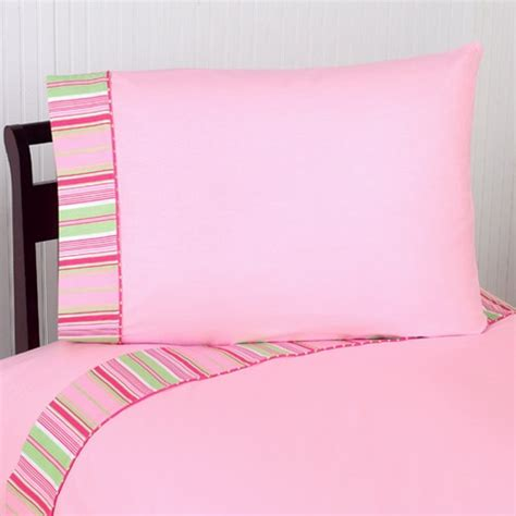 Pink And Green Bedding Sets 3 Pc Sheet Set For Pink And Green Jungle Friends Bedding Collection Only 59 99