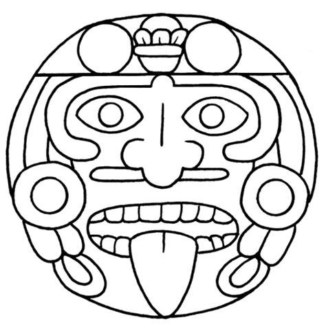 imagenes de los aztecas colorear arte azteca arte colorear pinterest