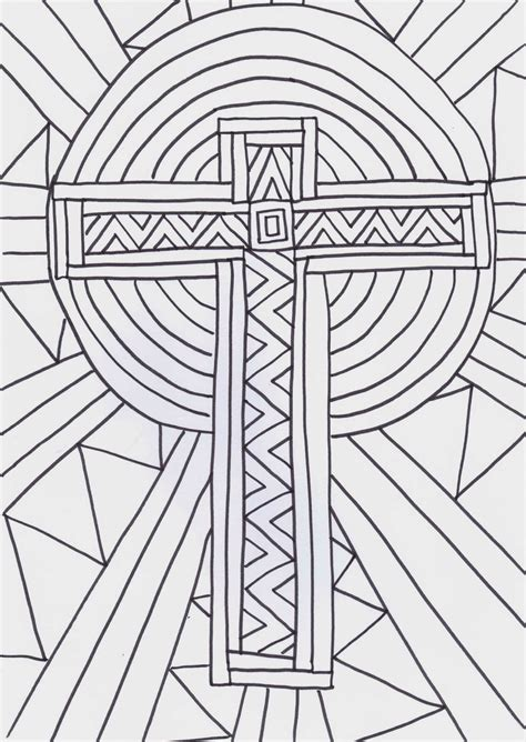 hard cross coloring pages the gallery for gt hard abstract coloring pages for teenagers