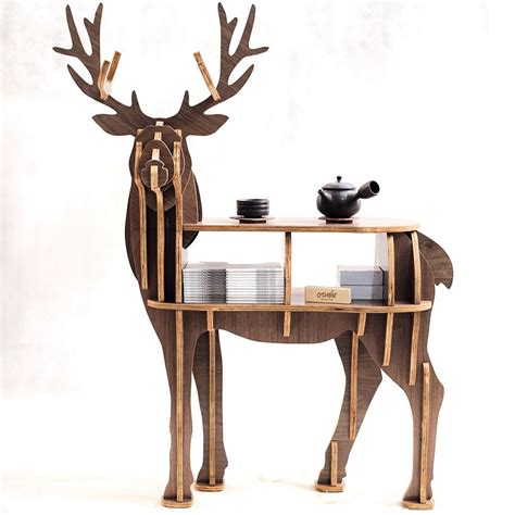 new high end quot s quot size lookback reindeer table wooden home