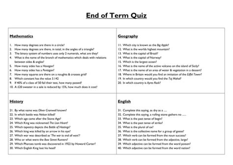 printable quiz questions and answers general knowledge end of term general knowledge quiz by ryansmailes